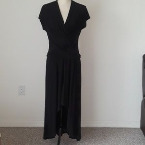 IMAN Black Long Evening Dress